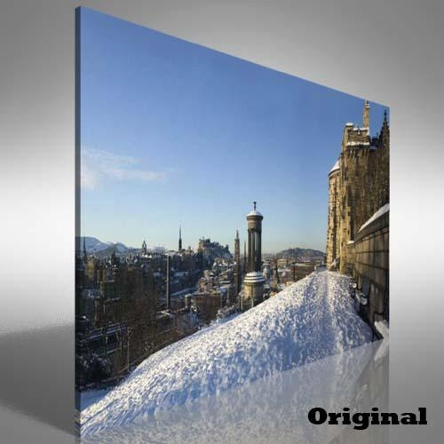 Snow Covered Edinburgh Canvas Print Large Picture Wall Art | Ebay With Regard To Edinburgh Canvas Prints Wall Art (Image 18 of 20)