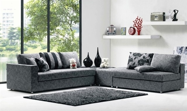 Sofa : Alluring Modern Fabric Sofa Set Sectional Sofas Modern Fabric Inside Contemporary Fabric Sofas (Image 9 of 10)