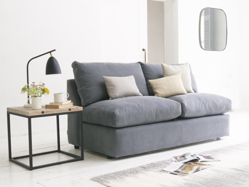 Sofa Armless Sofa Bed Armless Sofa Bed Australia Armless Sofa Intended For Small Armless Sofas (Image 9 of 10)