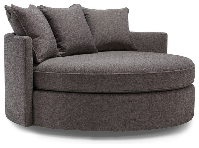 Sofa : Attractive Round Sofa Chair With Cup Holder Contemporary Within Big Round Sofa Chairs (Image 8 of 10)