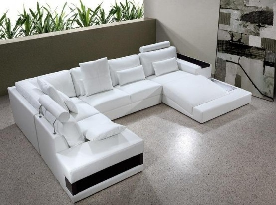 Sofa Beds Design: Cozy Traditional White Sectional Sofa For Sale In On Sale Sectional Sofas (Image 9 of 10)