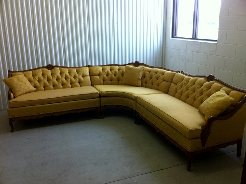 Sofa Beds Design: Extraordinary Ancient Retro Sectional Sofa Pertaining To Vintage Sectional Sofas (Image 7 of 10)