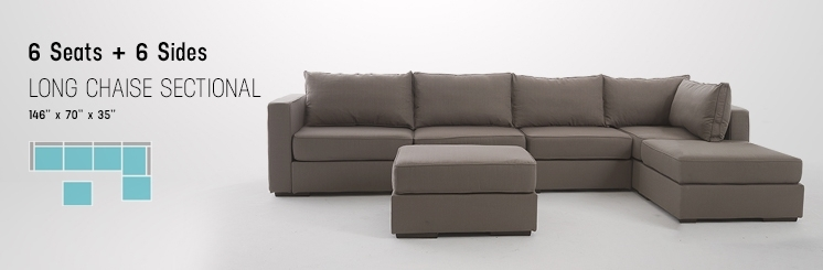 Sofa Beds Design: Marvellous Modern Long Sectional Sofas Design Throughout Long Sectional Sofas With Chaise (Image 10 of 10)