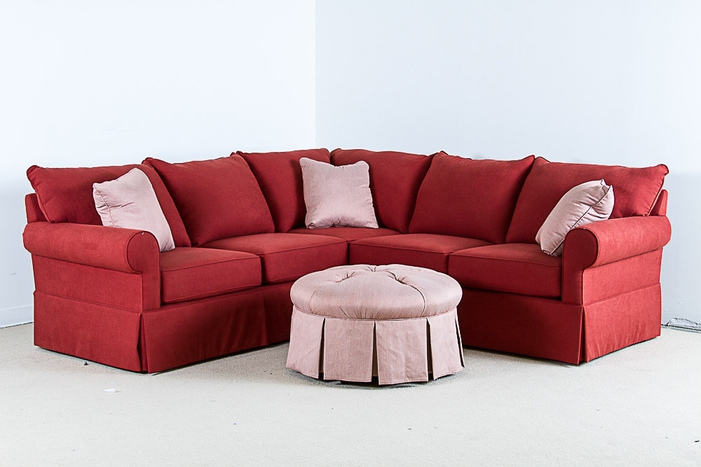 Sofa Beds Design: Mesmerizing Ancient Small Red Sectional Sofa Inside Red Sectional Sofas With Ottoman (View 8 of 10)