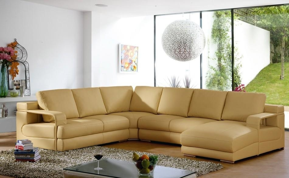 Sofa Beds Design: Popular Modern Camel Colored Sectional Sofa Ideas Throughout Camel Sectional Sofas (Image 9 of 10)
