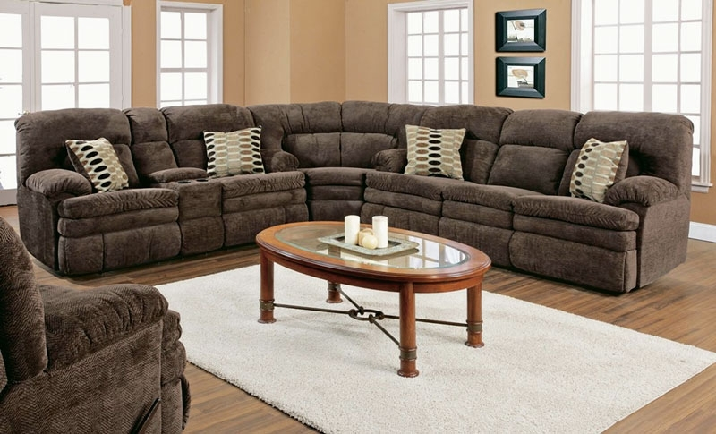 Sofa Beds Design: Popular Traditional Fabric Sectional Sofa With Intended For Reclining Sectional Sofas (Image 10 of 10)