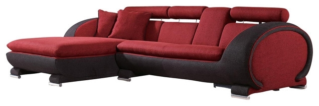 Sofa Beds Design: Simple Traditional Red And Black Sectional Sofa For Red Black Sectional Sofas (Image 8 of 10)