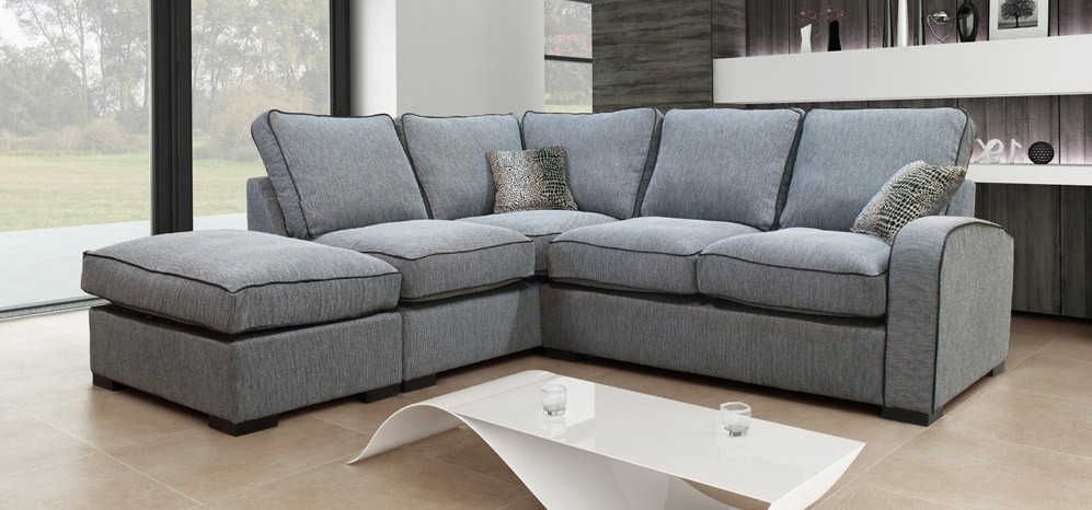 Sofa : Cool Fabric Corner Sofa Left Hand Set Charcoal Grey Hula With Regard To Fabric Corner Sofas (Image 10 of 10)