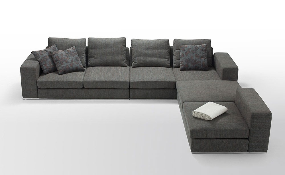 Sofa : Dazzling Modern Grey Sectional Sofa Small Big Sofas Modern With Small Modular Sectional Sofas (View 6 of 10)