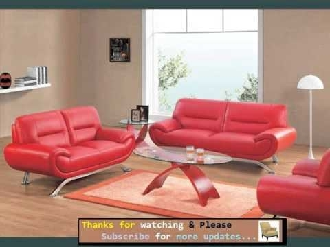 Sofa Designs And Collection | Leather Sofa Red Romance – Youtube Regarding Red Leather Couches (Image 7 of 10)