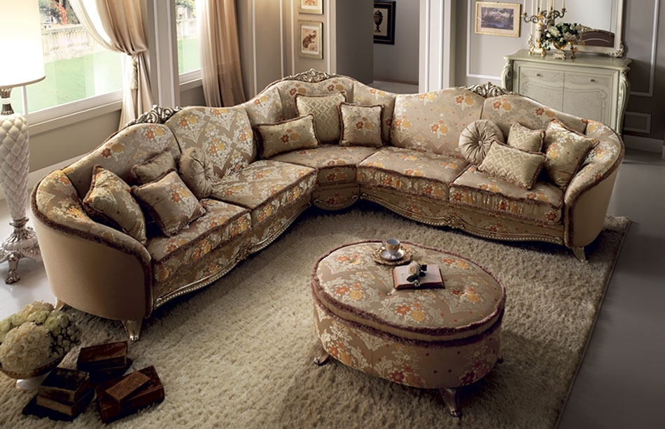 Sofa : Elegant Large Traditional Sofa Charming With Sofas Loveseats Inside Elegant Sectional Sofas (Image 10 of 10)