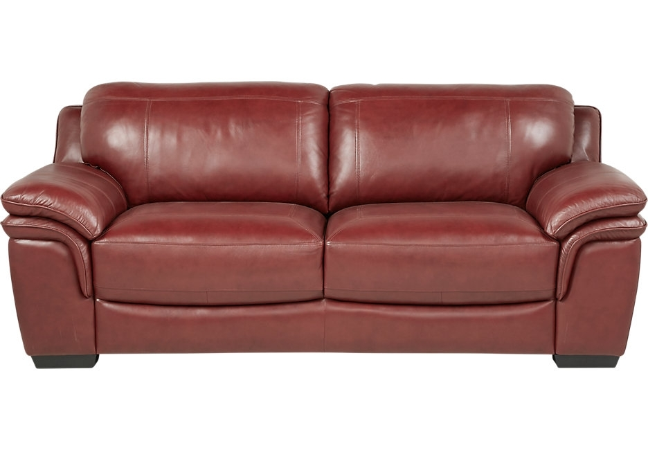 Sofa : Excellent Leather Sofa Chair Lr Sof 14163238 Grandpalazzo Red Intended For Red Sofa Chairs (Image 9 of 10)