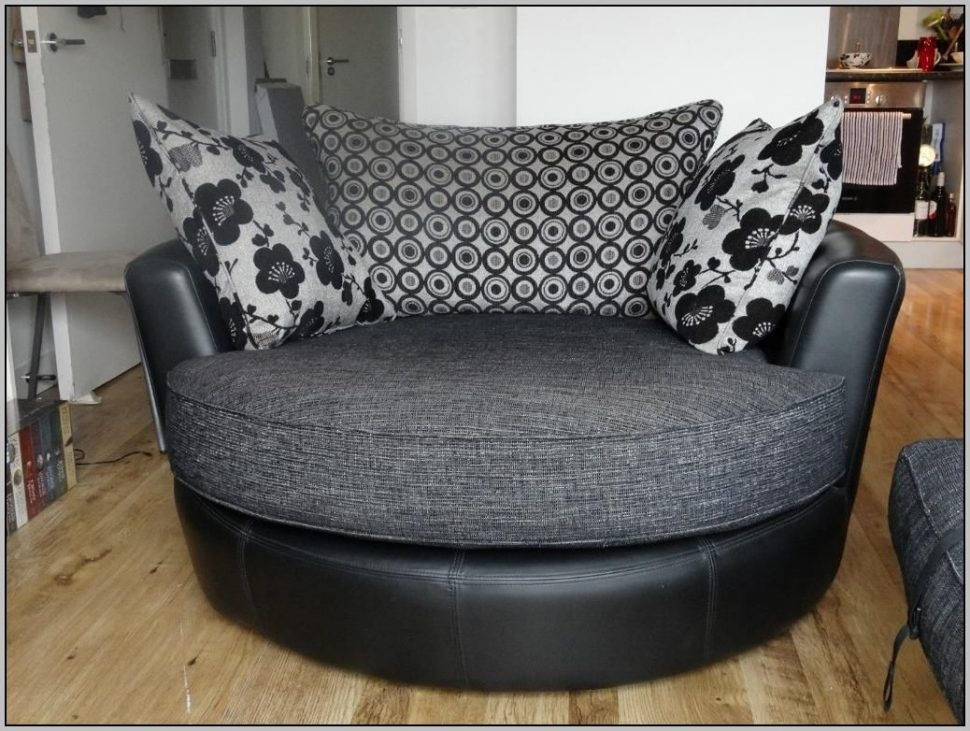 Sofa : Exquisite Round Sofa Chair Living Room Furniture Black Within Circular Sofa Chairs (Image 9 of 10)