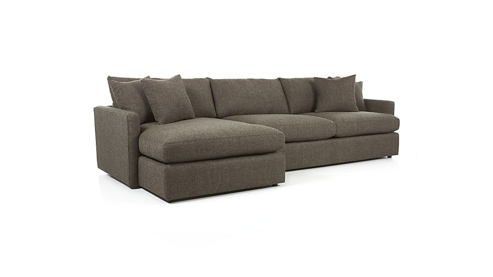 Sofa : Impressive One Seat Sectional Sofa Lounge Ii 2 Piece One Seat Throughout 2 Seat Sectional Sofas (Image 7 of 10)