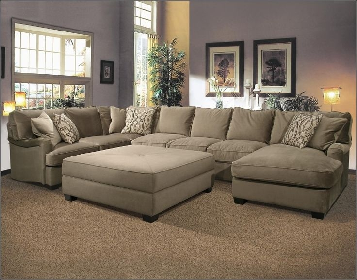 Sofa : Lovely Large Sectional Sofa U Shaped Large Sectional Sofa Regarding Huge U Shaped Sectionals (View 9 of 10)
