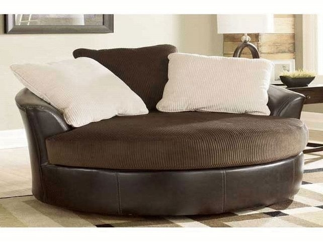 Sofa : Luxury Round Swivel Sofa Chair Latest Large With Crescent Intended For Round Swivel Sofa Chairs (Image 9 of 10)