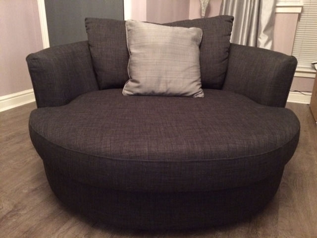 Sofa Round Swivel Chair Small Bed L For Decor 10 – Mindandother Pertaining To Sofas With Swivel Chair (Image 8 of 10)