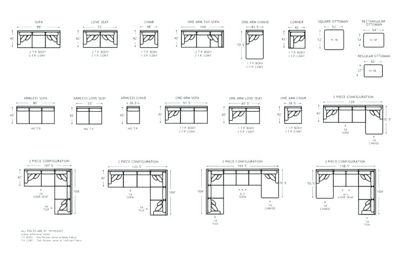 Sofa Small Sectional Sofa Dimensions Sofas Sectional Sofa Sizes Pertaining To Sectional Sofas By Size (View 7 of 10)