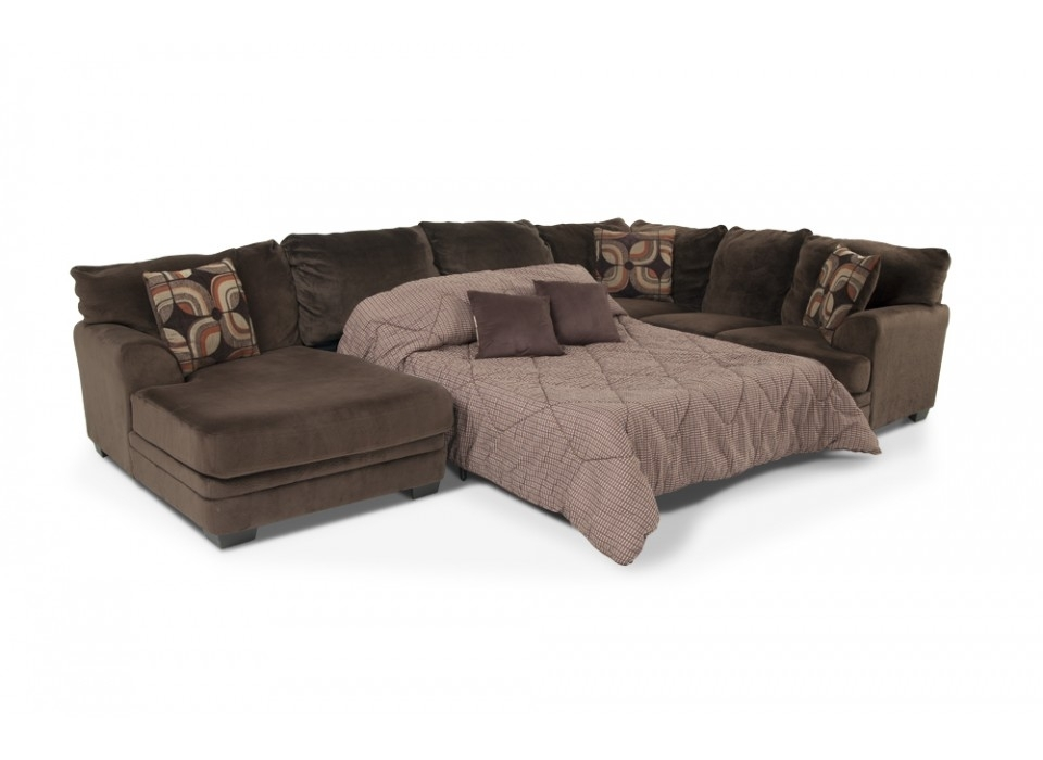 Sofa : Stunning Sectional Sofa Queen Bed Singletary Sleeper Intended For Sectional Sofas With Queen Size Sleeper (View 8 of 10)