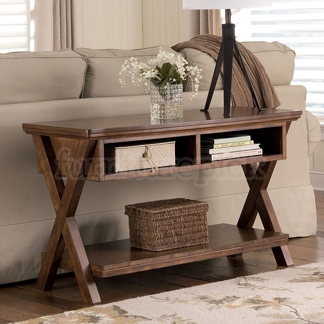 Sofa Table Console San Martin Consoles Tables Signature Design With Sofas With Back Consoles (Image 10 of 10)