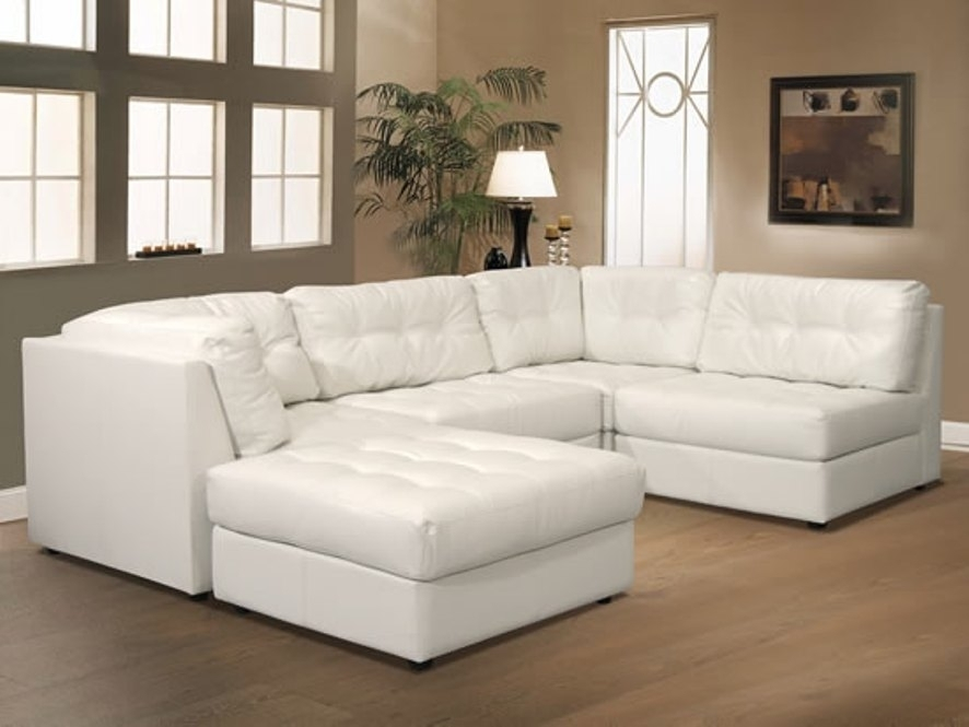 Sofa White Lounger Fabric Contemporary Leather Modular Sectional For Leather Modular Sectional Sofas (Image 10 of 10)