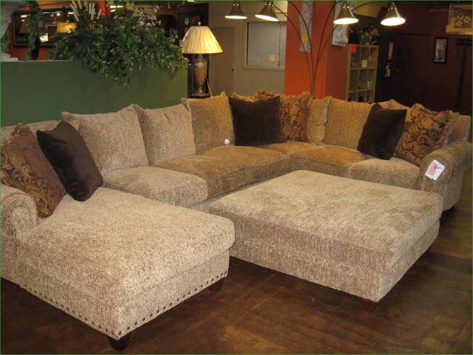 Sofas Center Large Sectional Sofa With Ottoman Inspiring Pit With Couches With Large Ottoman (Image 9 of 10)