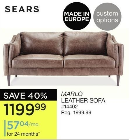 Sofas Couches Sears Pertaining To Leather Sofa Plans 7 Intended For Sears Sofas (Image 7 of 10)