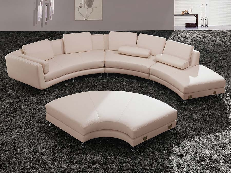 Sofas Magnificent Round Shape Sofa Set Corner Sectional Inside Half Intended For Rounded Corner Sectional Sofas (Image 10 of 10)