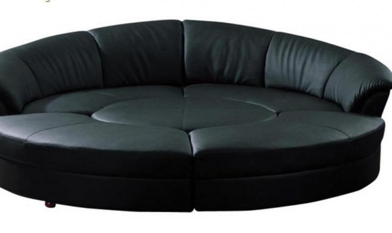 Soflex El Paso Ultra Modern Black Faux Leather Sectional Sofa Set5 Inside El Paso Sectional Sofas (View 5 of 10)