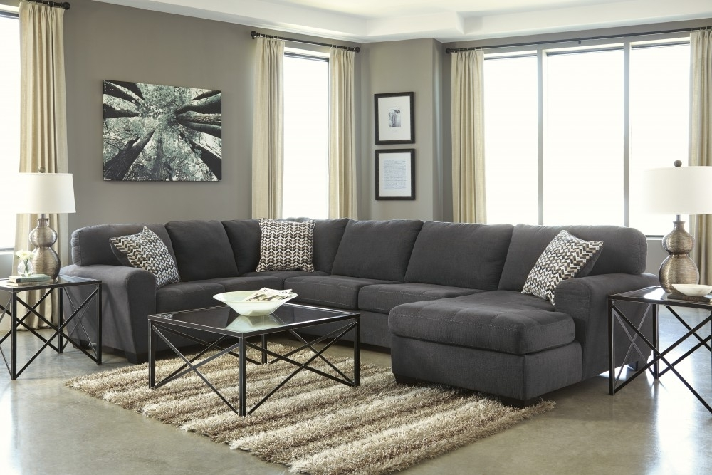 Sorenton – Slate 3 Pc Laf Sofa Sectional | Sectionals | Furnish 123 Throughout Eau Claire Wi Sectional Sofas (Image 9 of 10)