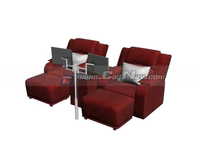 Spa Foot Bath Massage Chairs 3D Model 3Dmax Files Free Download Regarding Foot Massage Sofas (Image 10 of 10)