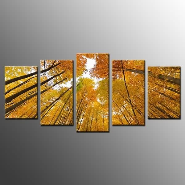 Special Price For Photo On Canvas Print Yellow Tree Wall Art Decor Inside Malaysia Canvas Wall Art (Image 14 of 20)
