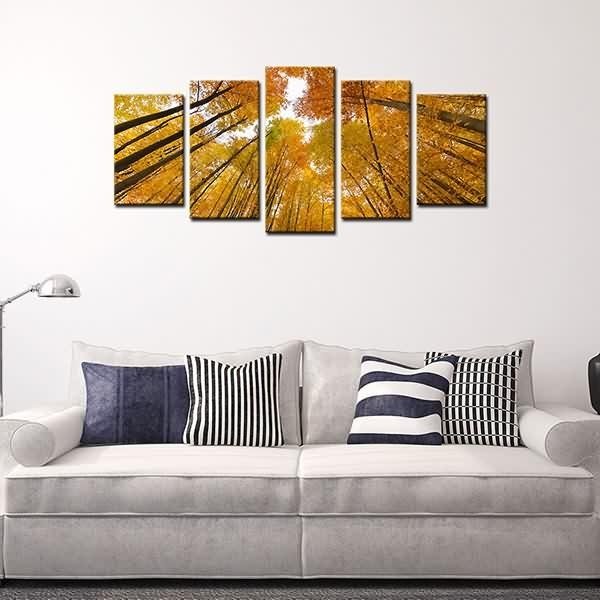 Special Price For Photo On Canvas Print Yellow Tree Wall Art Decor Within Malaysia Canvas Wall Art (Image 16 of 20)