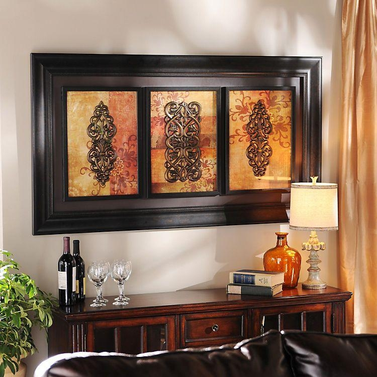 Spiced Up Trio Shadowbox | Kirklands | Home Decor And Diy In Kirkland Abstract Wall Art (View 2 of 20)