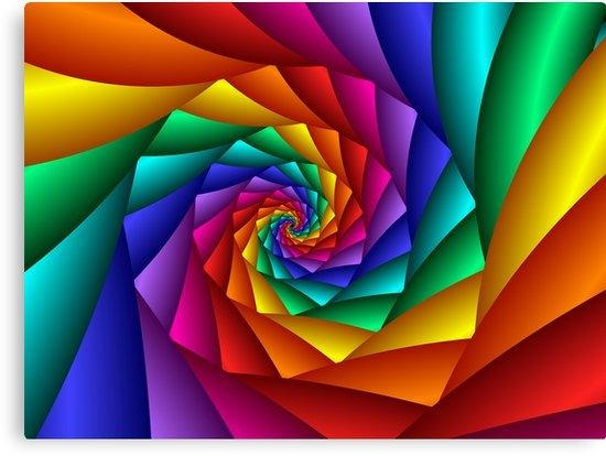 "Spiral Rainbow"" Canvas Printsjulie Shortridge 