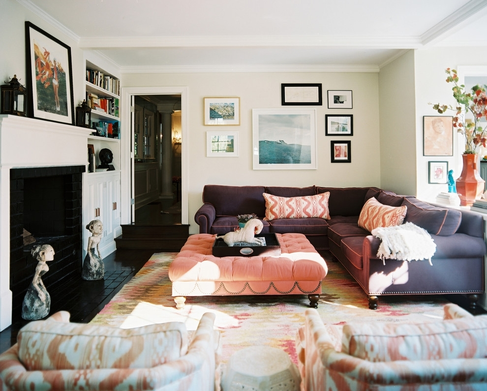 Splendid Purple Sectional Sofa Decorating Ideas Images In Family Inside Sectional Sofas Decorating (Image 10 of 10)