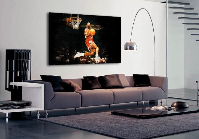 Sport Michael Jordan Slam Dunk | Buy Sport Michael Jordan Slam Dunk Throughout Michael Jordan Canvas Wall Art (Image 19 of 20)