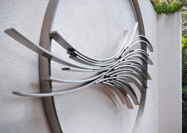 Stainless Steel Fabricated Metal Abstract #sculpture#sculptor Intended For Abstract Garden Wall Art (Image 16 of 20)