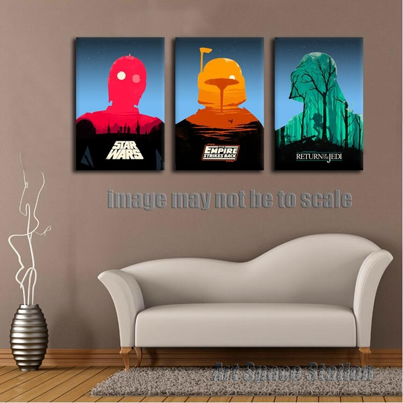Star Wars Empire Movie Poster Modern Abstract Canvas Print, 3 Within Abstract Wall Art Posters (View 6 of 20)