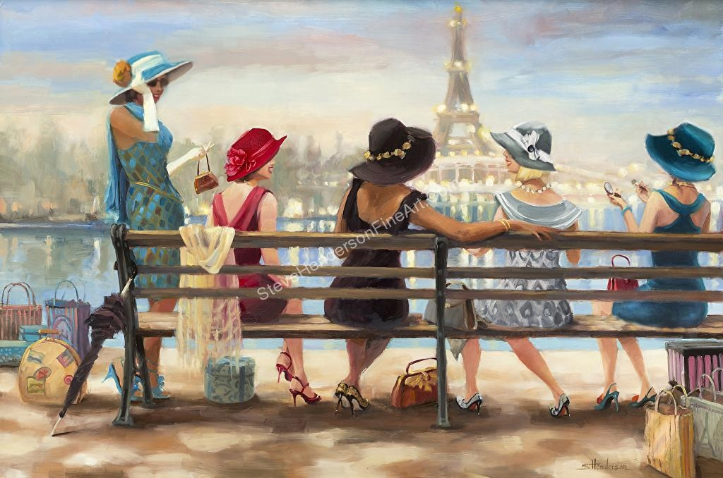 Steve Henderson – Work Zoom: Girls Day Out — Wall Art Print At Throughout Canvas Wall Art At Walmart (View 18 of 20)