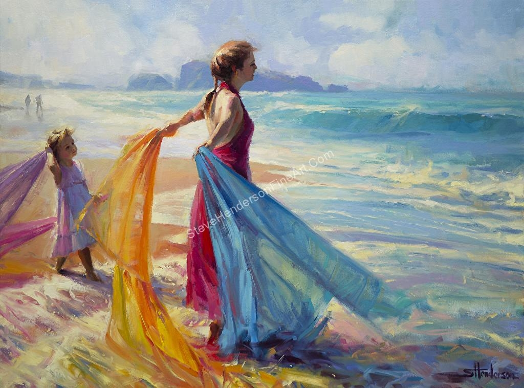 Steve Henderson – Work Zoom: Into The Surf — Wall Art Decor At Regarding Canvas Wall Art At Wayfair (Image 15 of 20)