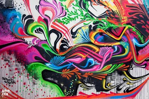 Stinkfish & Buytronick Hit Brick Lane | Graffiti, Street Art And Throughout Abstract Graffiti Wall Art (Photo 3 of 20)