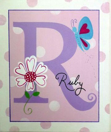 Stix And Stones Baby – Personalised Kids Name Canvas Wall Art Pertaining To Butterflies Canvas Wall Art (Image 15 of 20)