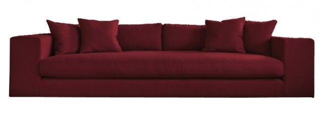 Straton Modern Style Large 4 Seater Sofa Maroon | Unique Sofas With Regard To Large 4 Seater Sofas (Image 10 of 10)