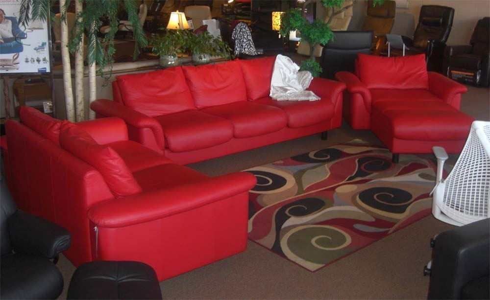 Stressless E300 Leather Ergonomic Sofa Couch With Matching Cushions Inside Ergonomic Sofas And Chairs (View 6 of 10)