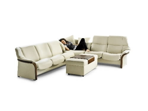 Stressless Granada High Back Leather Ergonomic Sofa Couchekornes For Ergonomic Sofas And Chairs (View 4 of 10)