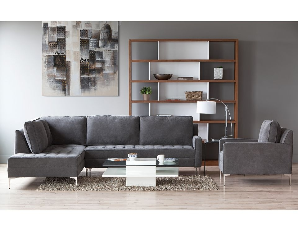 Structube – Living Room : Sectional Sofas : Miami (Charcoal) Looks Regarding Miami Sectional Sofas (View 5 of 10)