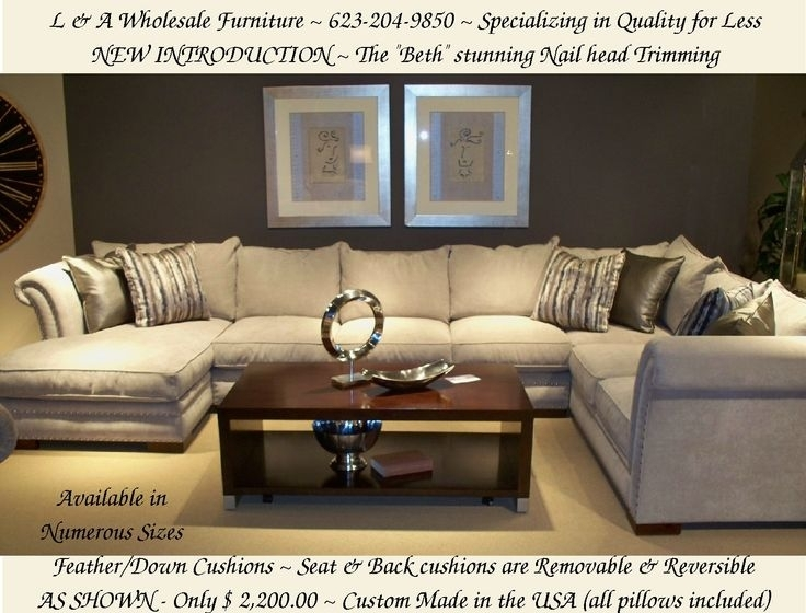 Stunning Down Filled Sectional Sofa With 23 Best Furniture That Is In Down Filled Sectional Sofas (Image 9 of 10)