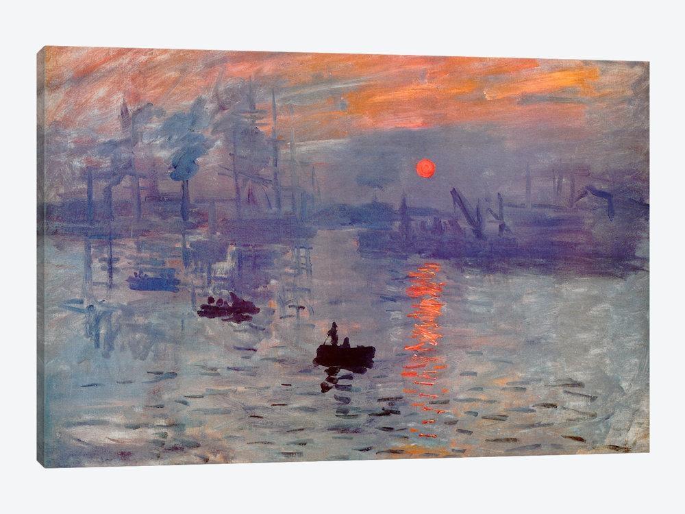 Sunrise Impression Canvas Wall Artclaude Monet | Icanvas Inside Monet Canvas Wall Art (Image 15 of 20)