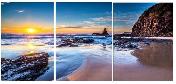 Sunset Beach  Modern Canvas Art Wall Decor Landscape Canvas Prints Intended For Landscape Canvas Wall Art (Image 18 of 20)